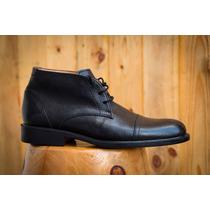 Zapato Bota Hombre - Cuero - Media Caña