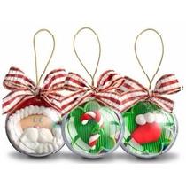 Bolinhas De Natal -esfera Acrílica-enfeite Natal-20 Unidades