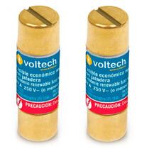Juego 2 Fusibles 30 A Clase H 250 V Baquelita Voltech 47293