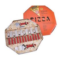 Kit Para Pizza 14 Peças Tramontina - Vermelho