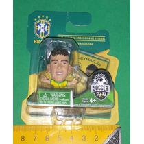 Mini Craque Neymar Jr + David Luiz Cbf Miniatura Boneco Copa