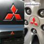 Combo Apliques Adesivos Vermelhos Lancer E Asx Emblemas Mit