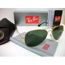 Rb - Aviador Dourado Com Lente Verde - 3026 - G