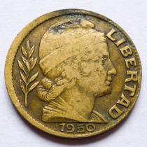 Moneda Argentina 20 Centavos 1950 Error De Acuñacion