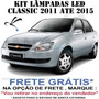 Kit Lâmpada Super Branca Led Corsa Classic Novo Sedan Hatch