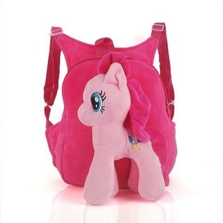 1b657b6372c Mochila My Little Pony Pinkie Pie Fiucsa Felpa Y Algodón -   549.00 en Mercado  Libre