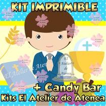 Kit Imprimible Primera Comunion Nene Candy Bar Golosinas
