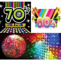 Tanda Cotillon Retro Años 70s 80s- Disco Hippie Premium