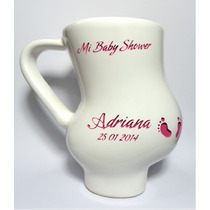 Taza Con Forma De Mujer Embarazada Recuerdo Baby Shower