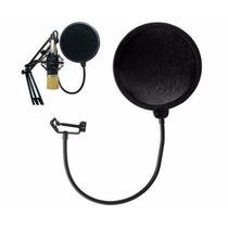 Filtro Pop Filter Dupla Camada Para Microfones