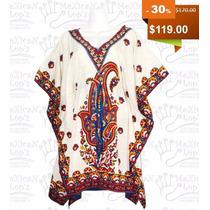 Blusa Salida Playa Kaftan Indu Elegante Colores Varios