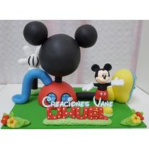 Adorno Casa Mickey Mouse + Mickey-con El Nombre De Regalo!!!
