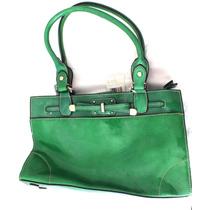 Linda Bolsa De Mão Liz Claiborne Verde Com 5 Divisória B3260