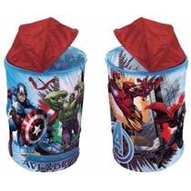 Porta Objetos Portátil Cesto Infantil Avengers Vingadores