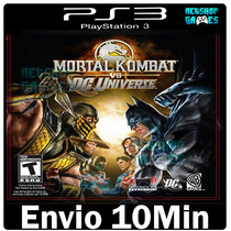 Mortal Kombat Vs Dc Universe Psn Ps3 Playstation3