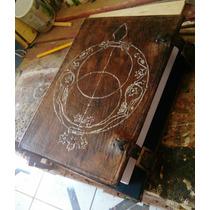 Grimório Artesanal Em Couro Grande - Livro Das Sombra Diário