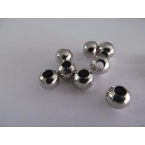 100 Bolitas De Metal Para Bijouterie Insumos Cuentas 8mm