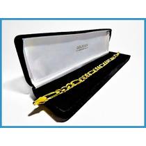 Pulsera Oro Amarillo Solido 14k Mod. Cartier 8mm 19grs