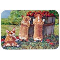 Ayudante De Apple Corgis Cocina O Baño Mat 24x36 7351jcmt