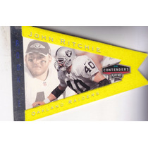 1998 Playoff Contenders Pennants Yellow Felt Rc John Ritchie