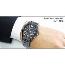Relógio Emporio Armani Ar1400 Masculino Ceramica Completo
