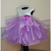 Vestido Importado Nena Bautismo Fiesta Boda 1-2 Años Usa