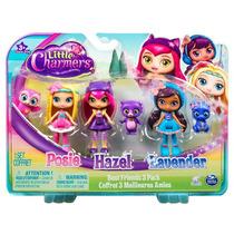 Muñecas Little Charmers Posie Hazel Lavender Con Mascotas