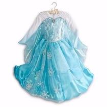 Vestido Princesa Elza Frozen De Luxo Original Loja Disney...
