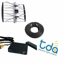 Combo Tv Digital Hd Tda + 20 Mts Cable + Decodificador Hdmi!