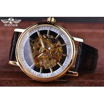Reloj Winner Automatico Skeleton Transparente Original