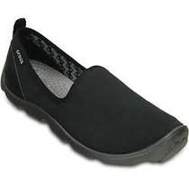 Crocs Damas Mujer Zapatilla Busy Day Skimmer Negro