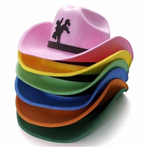 Chapéu Cowboy Eva - 10 Unidades - R  25 040acea4735