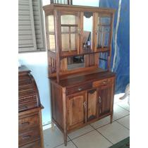Armario Guarda Louças Antigo Restaurado (only Wood)