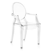 Cadeira Transparente Ghost Policarbonato Claro Sophia Louis