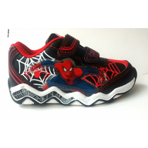 Zapatillas Spiderman Con Luces Mundo Moda Kids