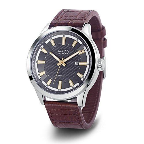 2e870af97eaf Reloj Acero Inoxidable Y Cuero Cuarzo Esq Hombres Reloj -   647.990 en  Mercado Libre