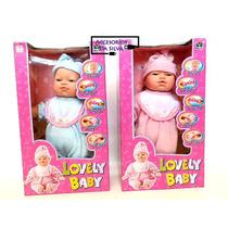 Muñeca Baby Lovely Dice Mama, Papa, Rie, Llora.