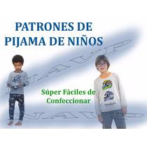 Moldes Patrones Imprimiibles Pijamas Niños Pantalon Short