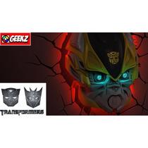 Transformers Autobot Bumblebee Abajur Luminária 3d Light Fx