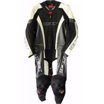 Macacao Moto Couro Texx Ghost 2 Pecas Preto