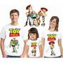 Kit 3 Camiseta Infantil Adulto Aniversário Festa Toy Story