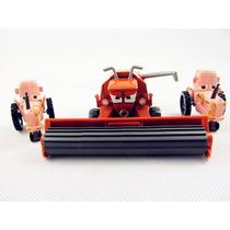 Disney Cars Frank Harvester & 2 Tratores Originais Da Mattel