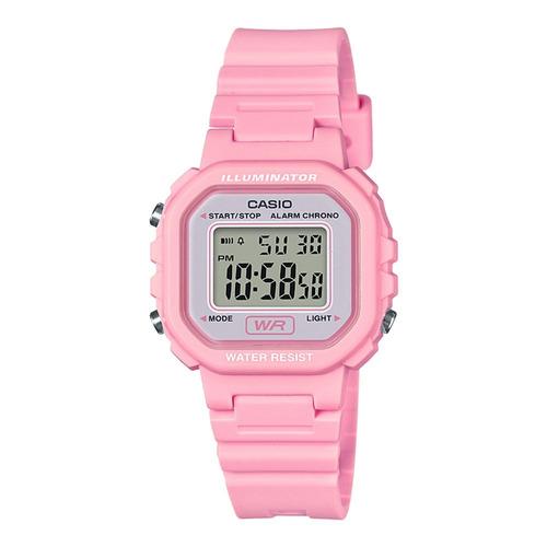 7db276e0418 Relógio Digital Feminino Casio La-20wh-4a1df - R  169