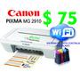 Impresora Canon Mg 2910 Wifi Con Sistema Continuo