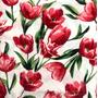 Flores Blanco-Rojo (Polilycra)