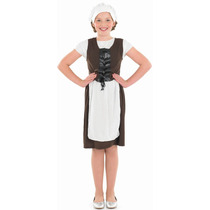 Disfraz De Tudor Chica Para Niñas 8-10 Años Talla L Vestido