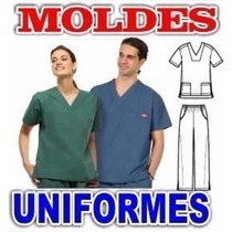 Patrones Moldes Uniformes Ambos Imprimibles Medicos