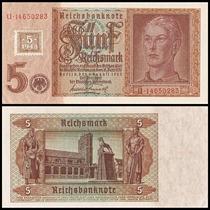 Germany Dem Republic Alemanha P-3 Fe 5 D. Mark 1948 * C O L*