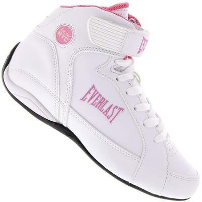 8945a507654 Botinha Tênis Feminina Everlast Jump Branca Com Rosa - R  126