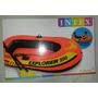 Bote Inflable Intex Explorer 200, 2 Remos, Parche Y Bomba.